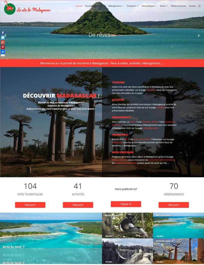 Le site de Madagascar
